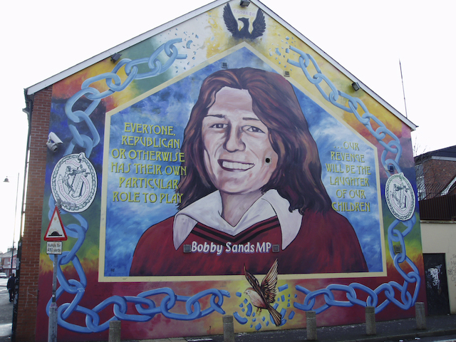 Falls road murals for Bobby sands mural