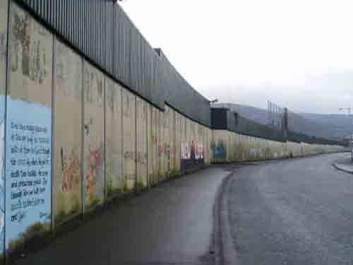 The peace wall Belfast